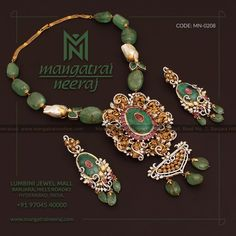 Gems Jewelry, Wedding Jewelry, Beaded Jewelry, Jewelery, Beaded Necklace, Gold Necklaces, Bohemian Jewelry, Gold Earrings, Antique Jewellery Designs