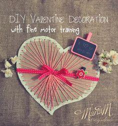 DIY Valentine's Day Decoration With Fine Motor Training