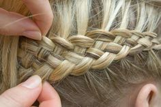 Dutch braiding 4-5 strands. Must try