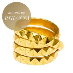 22k+Gold+Stud+Ring+-+MADE+IN+LONDON.  An+all+time+best+seller+by+UK+designer+Daisy's+Knights.+Natural+light+elegantly+catches+each+facet+of+each+stud+giving+your+finger+the+most+rockin'+gold+sparkle.+It+will+surely+catch+an+envious+eye.  • 22k+gold-vermeil. • Sterling+silver+base. •+Handmade+in+London. •+Comes+in+an+eco-friendly+Daisy+Knights+protective+soft+pouch.+  SHOP+ALL+DAISY+KNIGHTS+JEWELRY  NEED+HELP?+CONTACT+OUR+JEWELRY+STYLIST