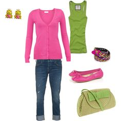 Pink and Green :)