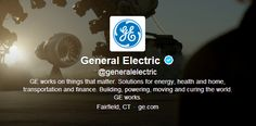"""General Electric: """"GE is a company of ideas. A place where ideas are nurtured and grow into beautiful things that make the world work better."""" www.ge.com/careers"""