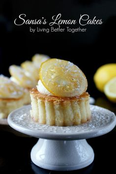 Sansa's Lemon Cakes - Game of Thrones - replace ingredients with splenda and use a souffle style baking for no added flour