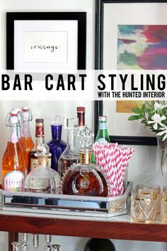 the HUNTED INTERIOR: Bar Cart Styling | our newest addition