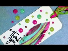 DIY faux enamel dots from paper - YouTube ... match your project exactly ... labor intensive ... hints for embossing ink refill and making a sticky tip tool ...