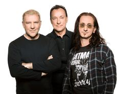 Alex Lifeson, Neil Peart and Geddy Lee of Rush.
