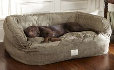 Orvis Lounger Deep Dish Dog Bed – Medium dogs up to 60 lbs.- Brown Tweed Orvis Lounger Deep Dish Dog Bed – Medium dogs up to 60 lbs. Le Plus Grand Chien, Dog Rooms, Medium Dogs, Large Dogs, Large Dog Beds, Small Dogs, Big Beds, Dog Life, I Love Dogs