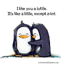 I miss you a lottle... it's like little, except a lot