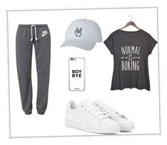 """""""Untitled #135"""" by lina2001-i ❤ liked on Polyvore featuring NIKE, adidas and plus size clothing"""