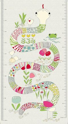 Snake and I Height Chart Pink 4505-038