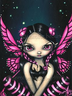 Pink Butterfly Fairy by Jasmine Becket-Griffith on ARTwanted