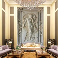 3D Nude Angel Statue wall mural@bvmhome        ##wallpaper ##interiorstyling ...