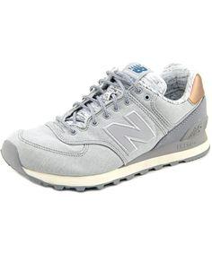 NEW BALANCE NEW BALANCE WL574 WOMEN   CANVAS SILVER FASHION SNEAKERS'. #newbalance #shoes #sneakers