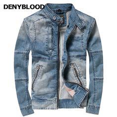 Cheap mens denim jacket, Buy Quality jackets for men directly from China denim jackets for men Suppliers: Denyblood Jeans Men's Denim Jacket for Men's Jackets In Autumn's New Casual Long-sleeved Denim Jacket Diy Fashion No Sew, Denim Fashion, Denim Jacket Men, Men's Denim, Fitness Inspiration Body, Denim Ideas, Men Dress, Casual Outfits, Blazer
