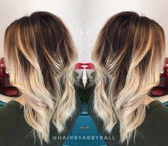 Brown and blonde Balayage