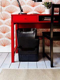 fan flower pattern &  modern red chinese office station