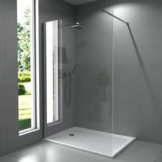 d coration de salle de bain sur un pare douche avec un film pour vitres transparent ou d poli. Black Bedroom Furniture Sets. Home Design Ideas