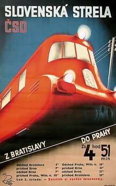 Last Sunday, the Dutch Poster Museum in Hoorn, The Netherlands, opened its doors for a special exhibition of Czech Modernist posters from the collection of the Lowry Family of New York City. Train Posters, Railway Posters, Lord Photo, Train Map, Train Travel, Europe Train, Rail Transport, Vintage Boats, Old Signs