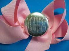 Silver Monogram / Bow / So very fabulous!