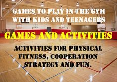 Ideas for physical education, after school programs, and youth groups. Gymnasium plus kids plus these ideas equals FUN.