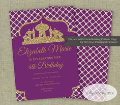 Arabian Invitation  Alladin  Magic  Arabian by ShySocialites