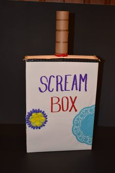 Using A Scream Box to Alleviate Anger, Fear and Stress A Scream Box is a fun and effective way to vent some of those intense emotions that build up inside like anger, fear and stress. While breathing, physical activity and talking about it are great… Counseling Activities, Art Therapy Activities, Counseling Worksheets, Calming Activities, Anger Management Activities For Kids, Coping Skills, Social Skills, Relation D Aide, Child Life Specialist