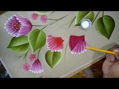 Today we are starting to create a new composition from foamiran. And the first flower that we make is lupine from foamiran. I will use marshmallow fo … - Acrylic Painting Flowers, One Stroke Painting, Painting Videos, Painting Lessons, Fabric Painting On Clothes, Donna Dewberry Painting, Kerala Mural Painting, Fabric Paint Designs, Tole Painting Patterns