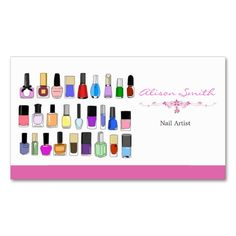 Nail artist Double-Sided standard business cards (Pack of 100). Make your own business card with this great design. All you need is to add your info to this template. Click the image to try it out!