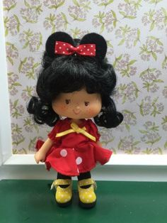 """Strawberry Shortcake Vintage Berrykin Custom """" Minnie Mouse """" in Dolls & Bears, Dolls, By Brand, Company, Character Vintage Strawberry Shortcake Dolls, Short Cake, Custom Dolls, My Childhood, Vintage Toys, Hello Kitty, Minnie Mouse, Lunch Box, Animation"""