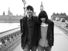 Irina Lazareanu & Alex James (of Blur) were featured in the spring campaign for Aubin & Wills.what a perfect storm of great hair, awesome styling, lovely clothes and beautiful photography.