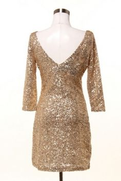 Emilio Pucci Caviar Gold Sequins Dress The Caviar Dress in Gold