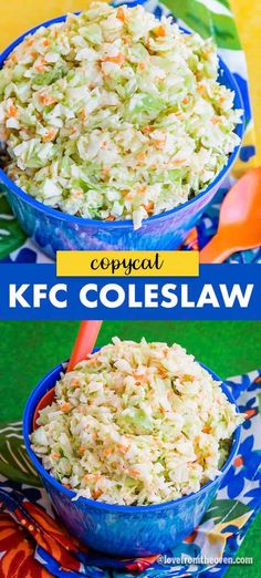 This tastes EXACTLY like the coleslaw from Kentucky Fried Chicken, my husband was totally fooled by it! recipes ever copycat Easy KFC Coleslaw Recipe Copycat Copycat Kfc Coleslaw, Homemade Coleslaw, Copycat Kentucky Fried Chicken Coleslaw Recipe, Chickfila Coleslaw Recipe, Kfc Coleslaw Recipe With Miracle Whip, Kfc Coleslaw Recipe Without Buttermilk, Easy Coleslaw Recipe, Bowls, Cooking Recipes