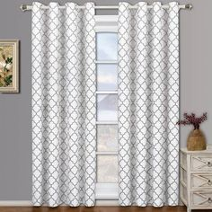 White Window Curtain With Gray Google Search Room Darkening Curtains 108 Inch