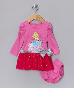 Take a look at this Pink Cinderella 'Beautiful' Dress & Diaper Cover - Infant by Disney on #zulily today!