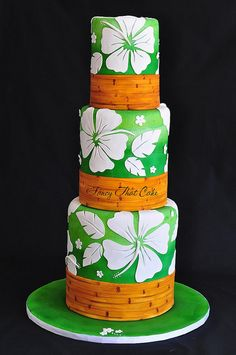 Hibiscus Cake by FancyThatCake, via Flickr