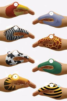 Animal Hands Tattoos by Urban Outfitters Body Art Tattoos, Hand Tattoos, Skin Paint, Body Paint, Face Paint Makeup, Kids Makeup, Face Painting Designs, Hand Art, Makeup Designs