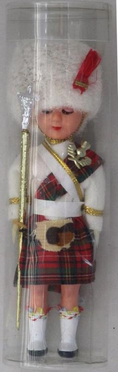 """Euphoria Auction - Vintage Hard Plastic Scottish Doll 6"""" Tall Eyes Open and Close"""