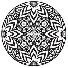 Mehndi Coloring Page Henna Adult Printable PDF Original Design