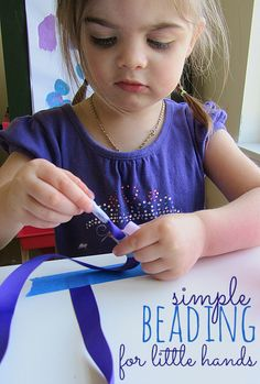 Some great tips on how to make beading fun for little kids. Avoid the frustration and melt downs with these tips.