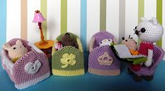 """Mini-Crib for your Amigurumi - Free Crochet Pattern - PDF File - Click to """" Mini-Crib"""" in Purple Letters at the end of the Post here: http://amilovesgurumi.com/2015/02/02/how-to-make-a-baby-no-not-what-you-think/"""