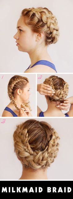 Prom+Updos:+Get+Milkmaid+Braids+forProm+|+Beauty+High