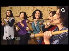 Traditional tambourine folk female band