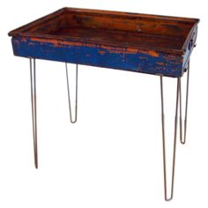 1stdibs - Industrial Steel Blue Bin on Hairpin Legs explore items from 1,700  global dealers at 1stdibs.com