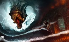 Escape from the Dragon by antoniodeluca on deviantART