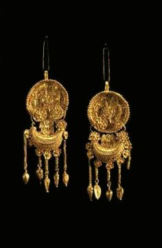 Earrings from Mogilanska mound Thracian gold, Bulgaria Ancient Romans, Ancient Art, Ancient History, European Tribes, Call Art, Ancient Jewelry, Ancient Civilizations, Precious Metals, Metal Working