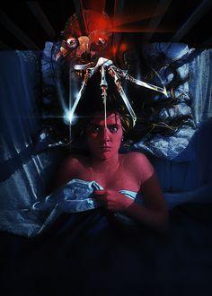 TumblrNightmare Elm Street poster art by Matthew Peak, by Horror Fixx, via Vixens And Monsters