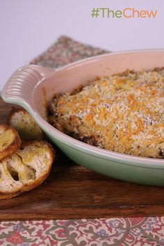 Transform sausage and cheese and mushrooms into a tasty Stuffed Mushroom Dip by Clinton Kelly for your next party!