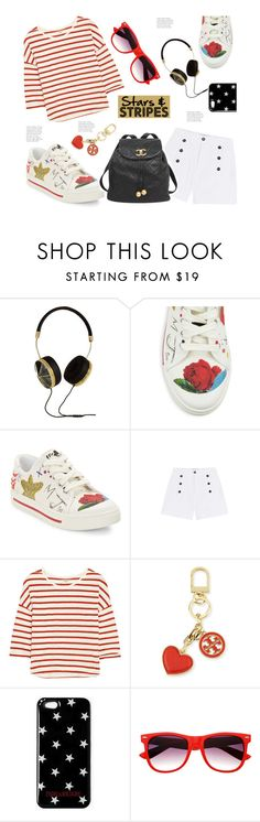 """""""Stars & Stripes (Top Set 25 June 2016...Thank you PV! X)"""" by hattie4palmerstone ❤ liked on Polyvore featuring Frends, Marc Jacobs, Étoile Isabel Marant, Madewell, Chanel and Tory Burch"""