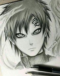 Ga'ara - from Naruto Naruto Gaara, Anime Naruto, Manga Anime, Anime Boys, Sasuke Sakura, Shikamaru, Naruto Drawings, Naruto Sketch, Anime Drawings Sketches