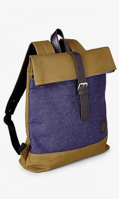 464689110ef Denim Fold Top Backpack from EXPRESS http   www.foxyblu.com